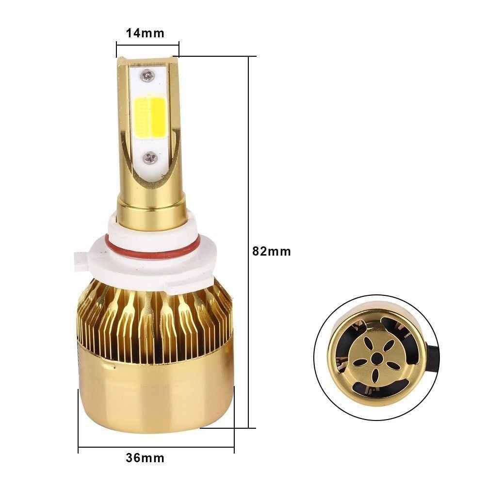 H27 881 hb4 led H4 H7  H11 LED H8 9006 H1 H3 9005 H7 COB Car LED Headlight Bulbs Conversion Kit 72W 10000LM IP67 luces Auto LED
