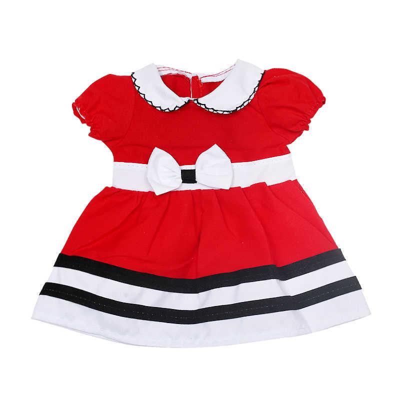 18 インチ米国の人形の服赤プリンセスドレススカート学校制服 16-18 インチの女の子の人形アクセサリー 444