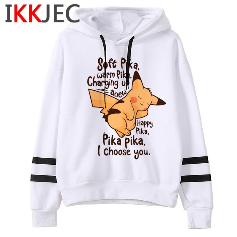 Pokemon Go Funny Cartoon Warm Hoodies Men/women Cute Pikachu Japanese Anime Sweatshirts Fashion 90s Steetwear Hoody Male/female 30