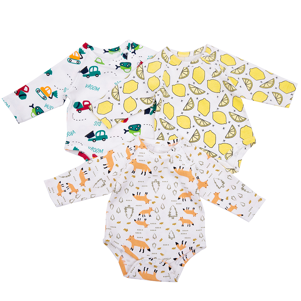 0-2 Years Cotton Bodysuit For Newborn Baby Romper Long Sleeve Toddler Baby Boys Girl Clothes  For Children