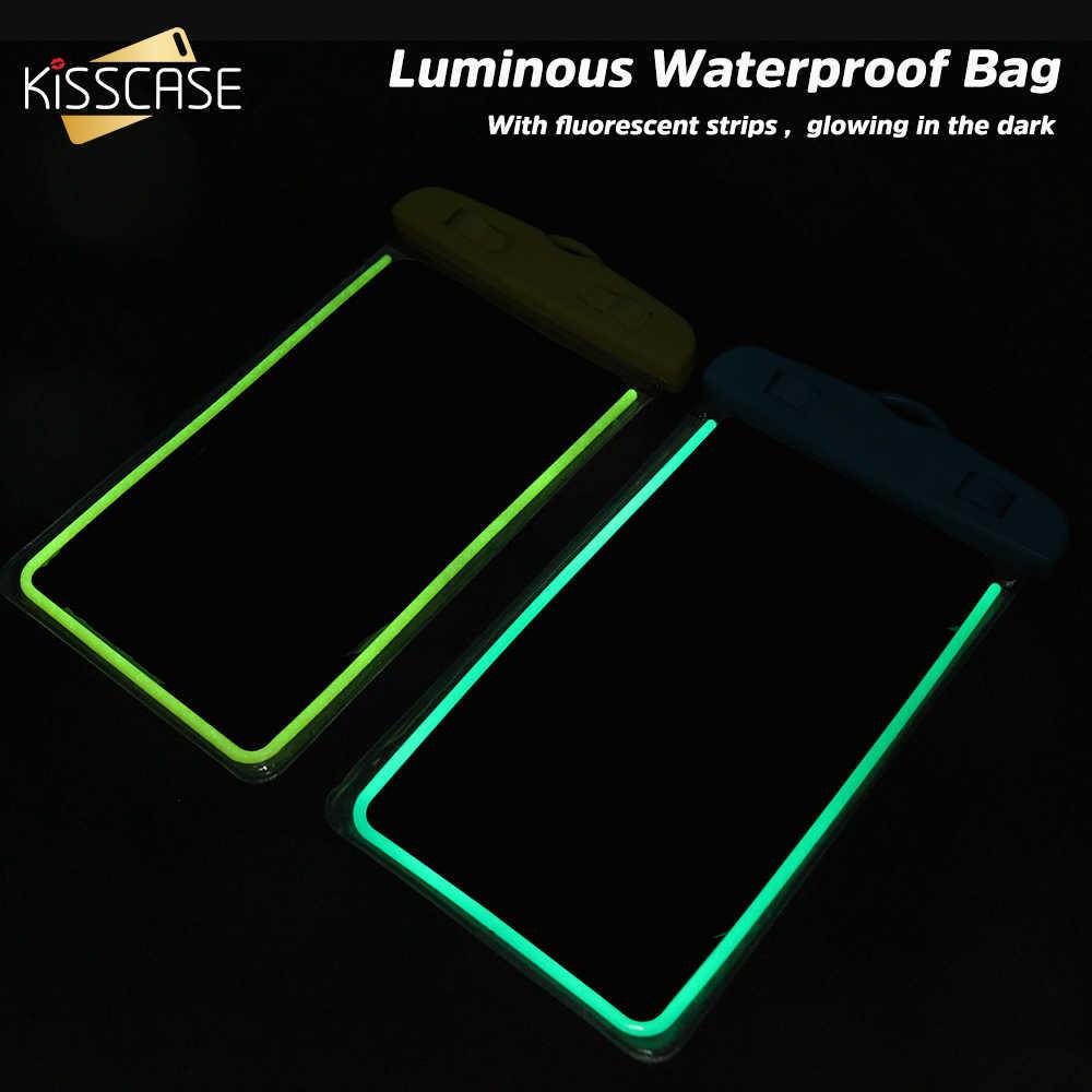Ciuman Tahan Air Ponsel Case untuk Samsung S10 S9 A50 A40 A70 A30 Cover Di Bawah Air Tas Kantong Case untuk Huawei mate 20 P30 Lite