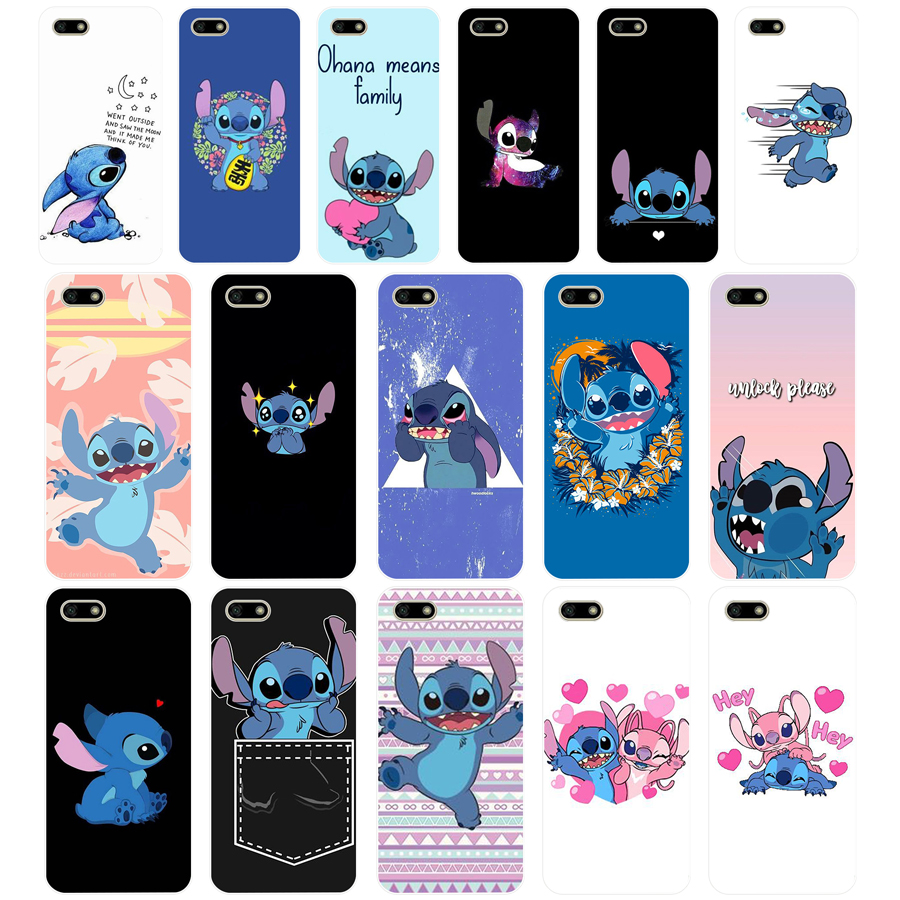 69AA Stitch Funny Cute Cartoon Soft <font><b>Silicone</b></font> Tpu Cover phone <font><b>Case</b></font> for <font><b>Huawei</b></font> <font><b>Honor</b></font> 7A PRO 5.45 5.7 7C <font><b>7X</b></font> Y5 2018 image