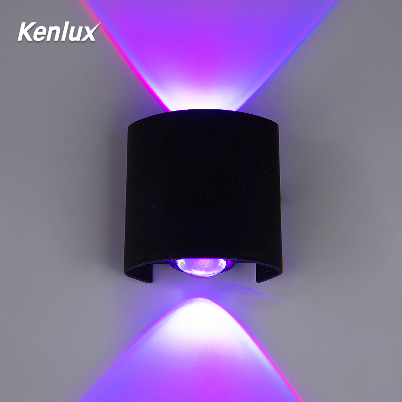 RGB Led Wall Light Automatically Color Changing Up Down Wall Outdoor Lamp Decorative Led Lights For Party Bar Lobby KTV Home