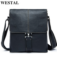 WESTAL Men's Shoulder Bag for Men Ipad Flap Zipper Messenger