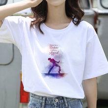 90s эстетический рубашка Женские базовые повседневные футболки