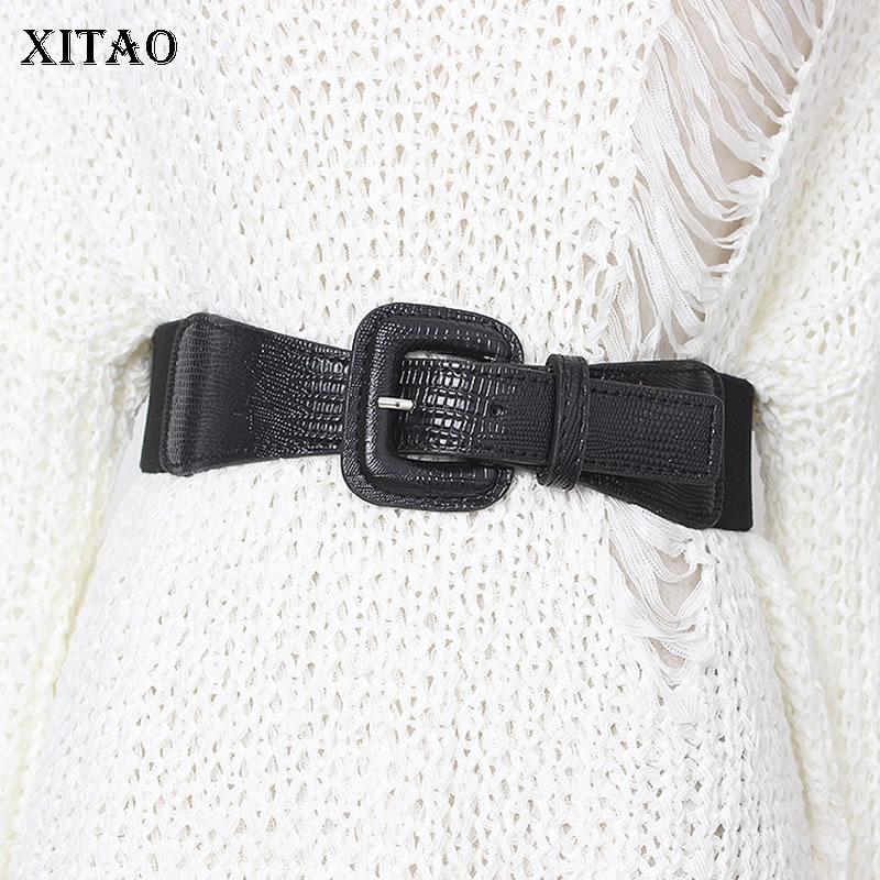 XITAO Stylish And Simple Cummerbunds Women Fashion New 2019 Elastic Elastic Narrow Waist Elegant Minority Cummerbunds XJ2399