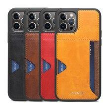 Caso da carteira do bolso do cartão da prova de choque para o iphone 12 mini 11 pro max melhor qualidade confortável saco do telefone capa