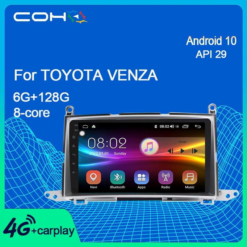 COHO для Toyota Venza навигация автомобильный Dvd мультимедийный плеер Радио Android 10,0 Octa Core 6 + 128G