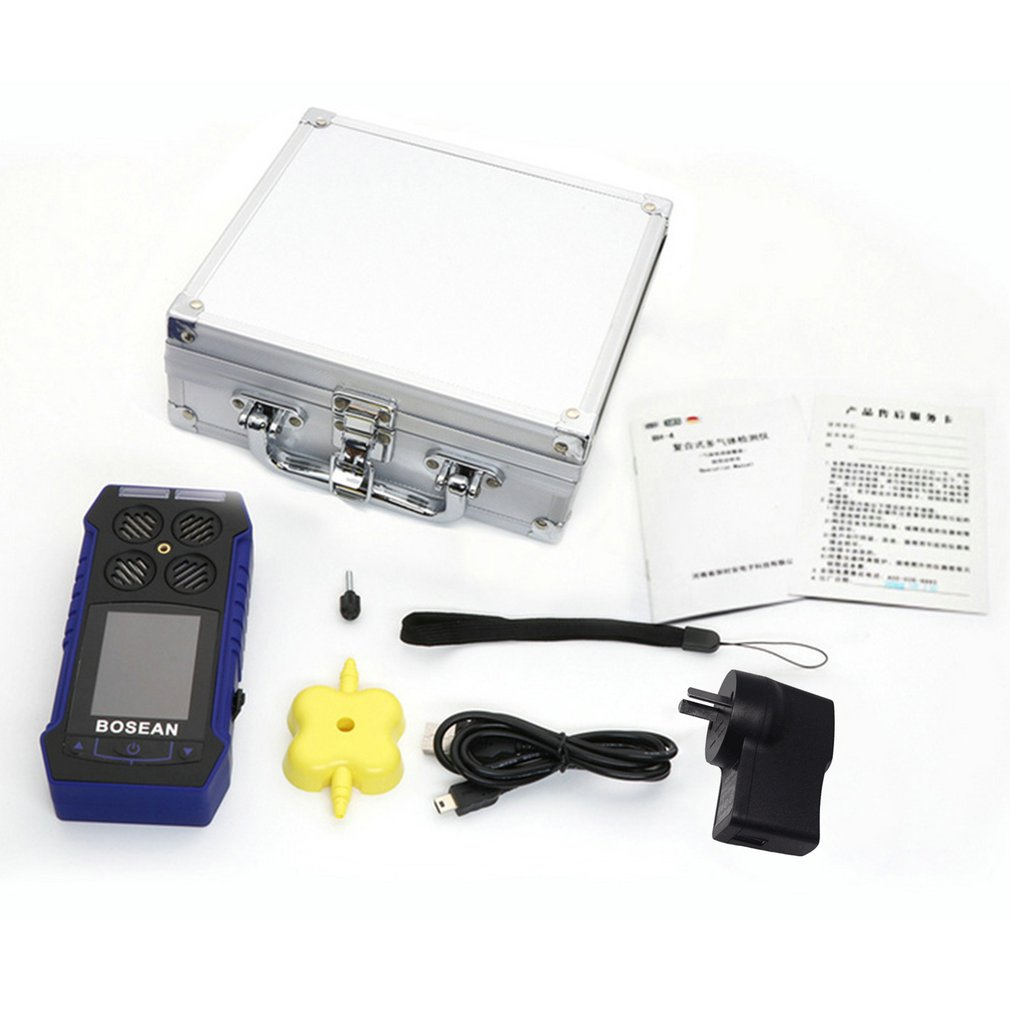 BH-4S 4 In 1 Gas Detector Combustible Oxygen Carbon Monoxide Hydrogen Sulfide Toxic And Harmful Gas Concentration Detector