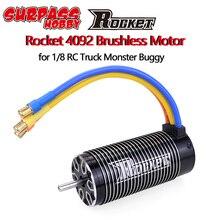 רוקט 4092 4082 1550KV 1650KV 1420KV 1720KV Brushless Sensorless מנוע מנוע עבור 1/8 RC להיסחף מירוץ מפלצת משאית Off Road רכב
