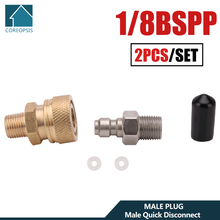 Couplers-Set Male Quick-Disconnect 1/8bspp Copper And 300bar M10x1 High-Pressure 4500psi