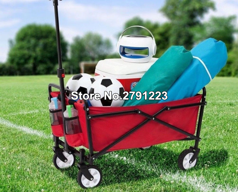 Trolley-Cart Folding Utility Wagon Moving-Things Gardens Collapsible Outdoor Camping