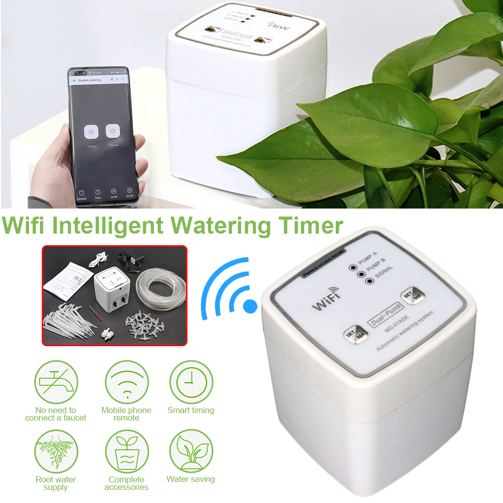 Household Automatic Watering Timer Garden Automatic Drip Irrigation Device WiFi Control Houseplant Timer for Garden Patio
