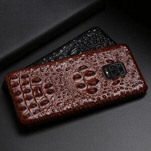 Image 3 - Coque de téléphone en cuir pour Xiaomi Redmi Note 9 S 8 7 6 5 K30 Mi 9 se 9T 10 Lite A3 Mix 2s Max 3 Poco F1 X2 X3 F2 Pro tête de Crocodile