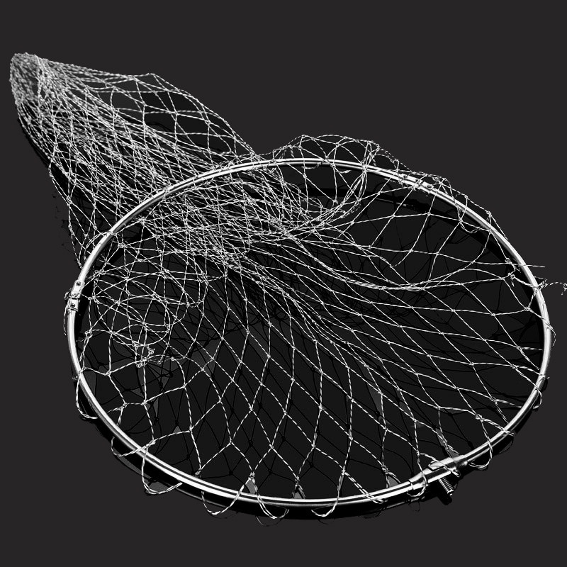 Nylon Pe Braided Fishing Nets Fishing Tackle Collapsible Rhombus Mesh Hole Depth Folding Dip Net All For Fishing Products