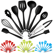 10pcs Non-Stick Kitchenware Silicone Heat Resistant Kitchen Cooking Utensils Baking Tool Sets Practical Convenient