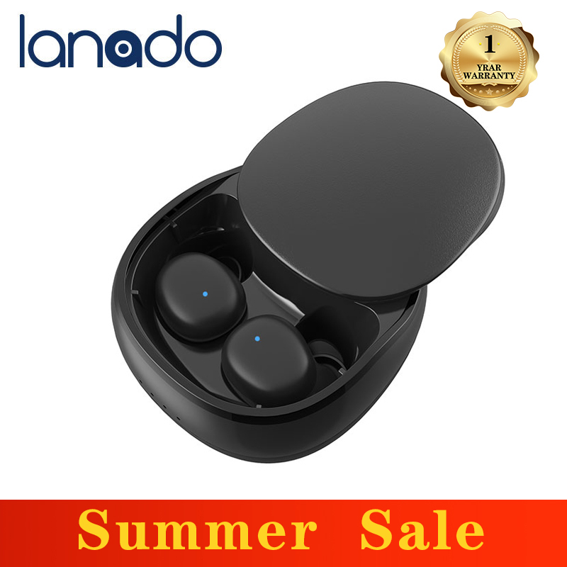 Lanado 2020 New Touch Control Bluetooth 5.0 TWS Earphones Wireless Earbuds IPX7 Sports Dual MIC Noise Cancelling Gaming Headset