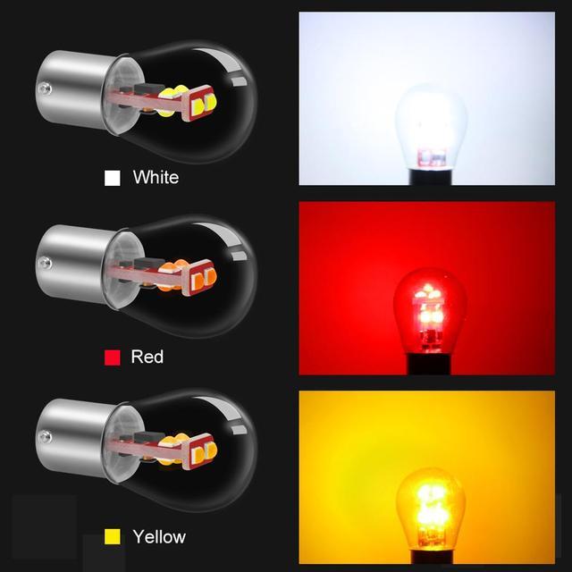 1156 BA15S P21W ampoule Led 1157 BAY15D P21/5 W Led BA15D BAU15S PY21W 800LM Voiture Clignotant Rouge Blanc Jaune Lumière Automatique 12V 3