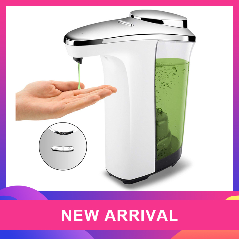 Automatic Soap Dispenser Compact Sensor Pump Adjustable Soap Dispensing Volume Control Battery Operated 17Oz/500Ml For Kitchen