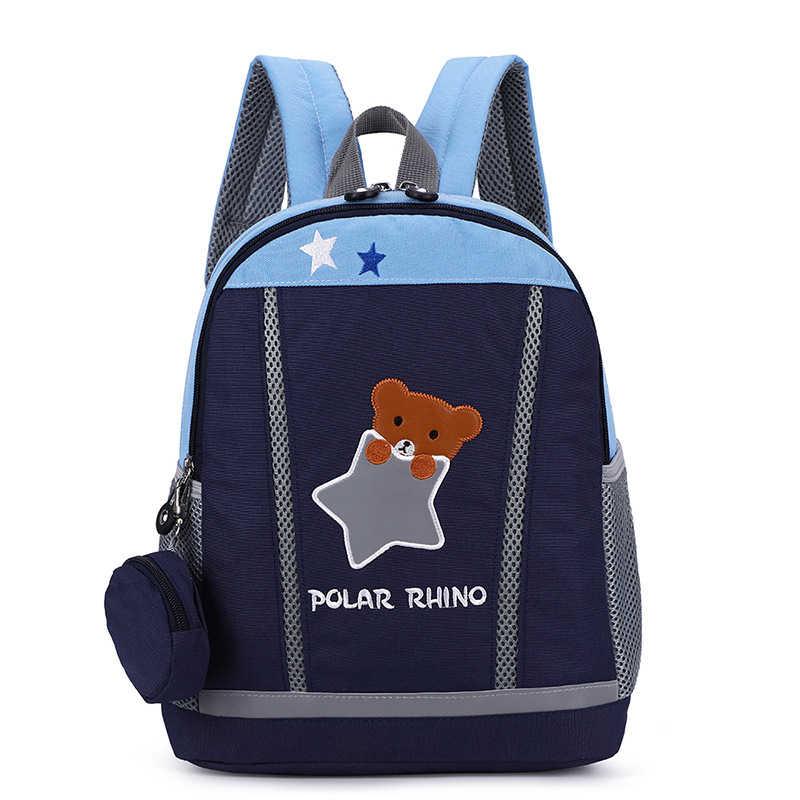 Niedźwiedź/rabbbit drukowanie plecaki dla dzieci z nylonu przedszkole dla dzieci torby szkolne plecaki dla dzieci chłopcy dziewczęta przedszkole maluch plecak