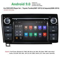 7 inch inch Android 9.0 Car Head Unit for Toyota Tundra Sequoia Car Stereo GPS Autoradio GPS BT Radio RDS Mirror link Wifi 4G PC