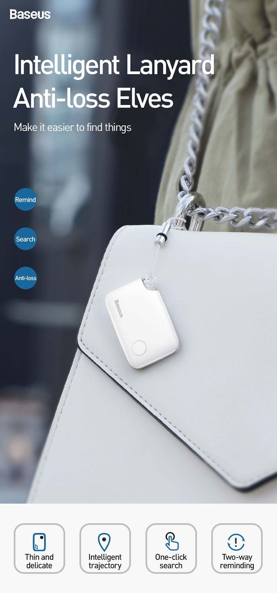 Baseus T2 Mini GPS Tracker