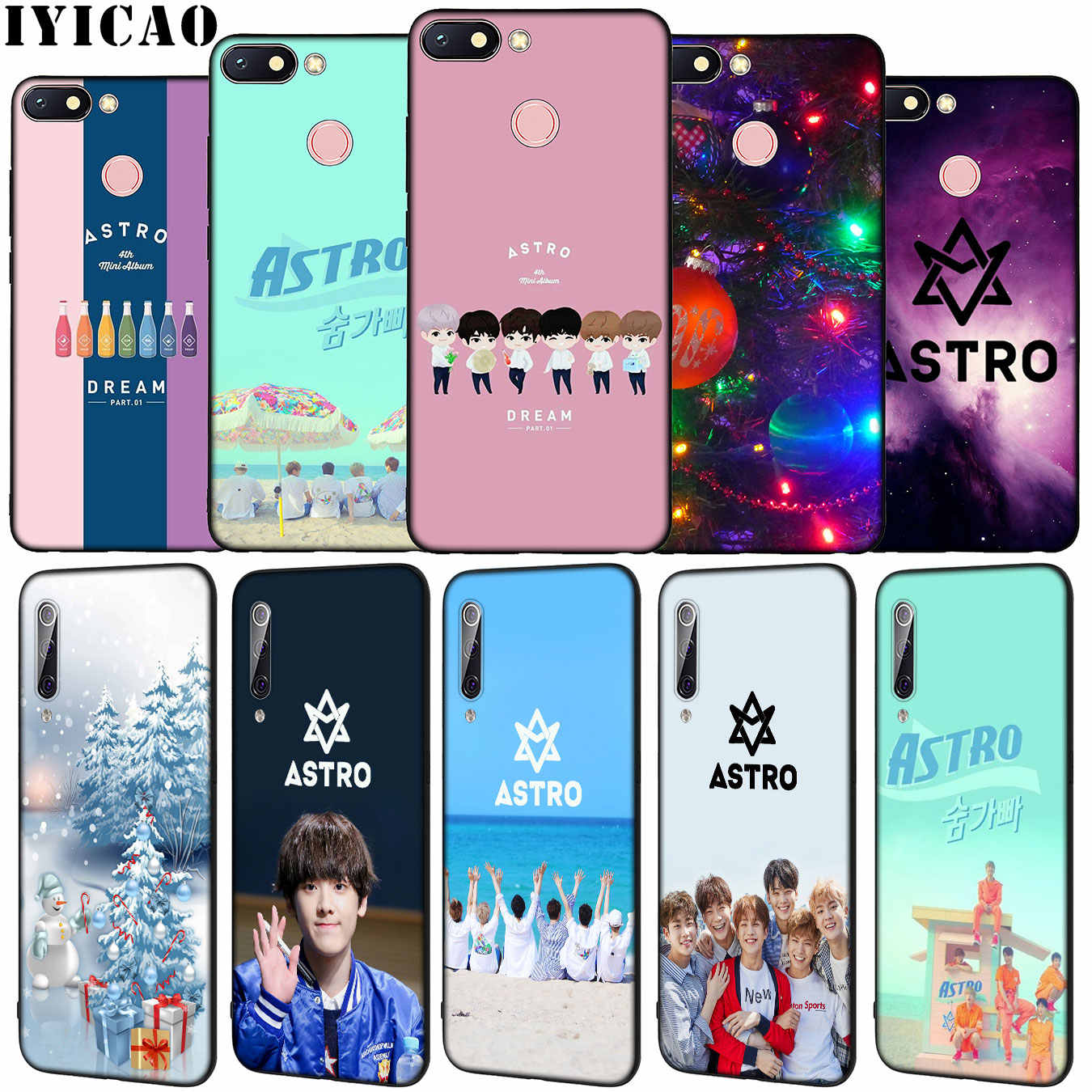 Iyicao Kpop Astro Heart Shaped Soft Silicone Phone Case For Xiaomi