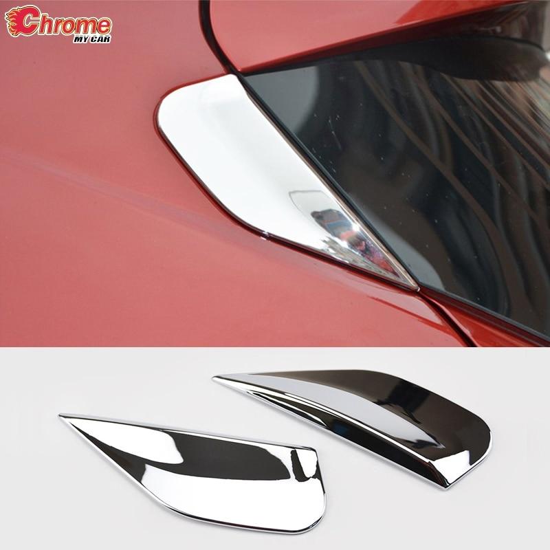 Для Buick Encore Opel/Vauxhall Mokka X 2013 2014 2015 2016 2017 2018 хромированный задний спойлер накладка стойки Молдинг