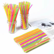 Straw-Bar-Accessories Straws Drink Disposable Beach-Party 100pcs Club DIY Fluorescent