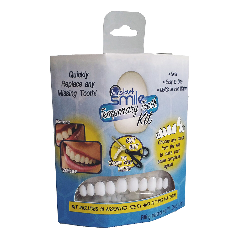 New Comfortable Snap On Men Women Tooth Perfect Smile Comfort Fit Flex Teeth Fits Whitening Smile False Teeth Cover