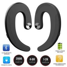 HBQ Wireless Bluetooth Kopfhörer Kopfhörer Exquisite Ohrhörer Haken Headset Freisprecheinrichtung Knochen Leitung Kopfhörer Kopfhörer mit Mic