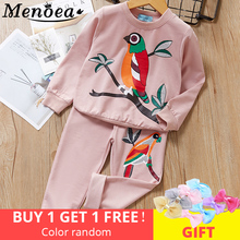 Winter Girls Clothing Sets 2016 New Active Boys Children Cartoon Print Sweatshirts+Pants Suit