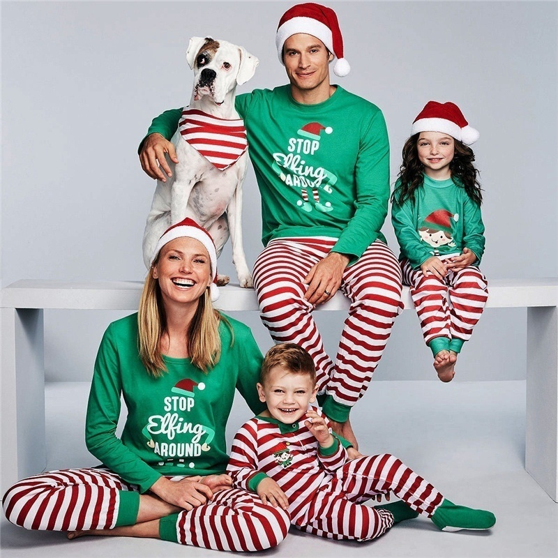 JULY'S SONG Family Christmas Pajamas Warm Adult Girls Boy Father Sleepwear Woman Nightwear Matching Outfit Long Sleeve Pajamas