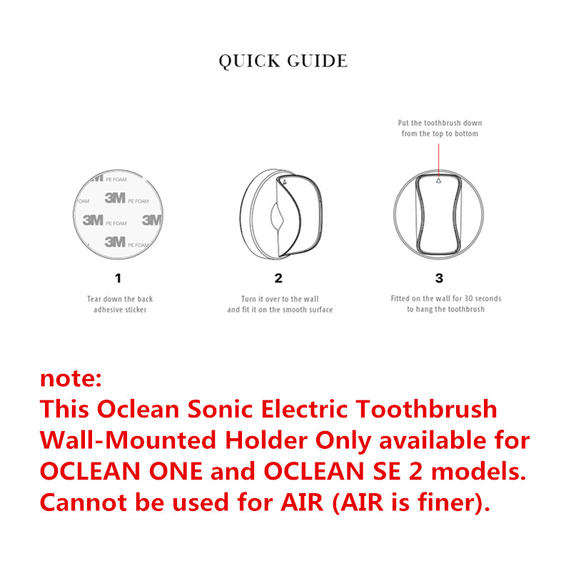 2020 Oclean Sonic Electric Toothbrush Wall-Mounted Holder Creative Traceless Stand Rack Portable Toothbrush Holder 3D Hanging PP
