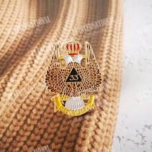 Masonic Lapel Pins Badge Mason Freemason  Ancient & Accepted Scottish Rite 33 Degree DEUS MEUMQUE JUS Crown