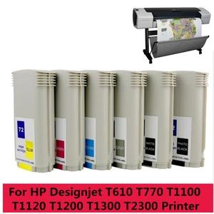 Image 4 - Encre De haute Qualité 72 Pleine 130ML Cartouche Dencre avec Puce pour HP T610 T620 T770 T790 T795 T1100 T1120 T1200 T1300 T2300