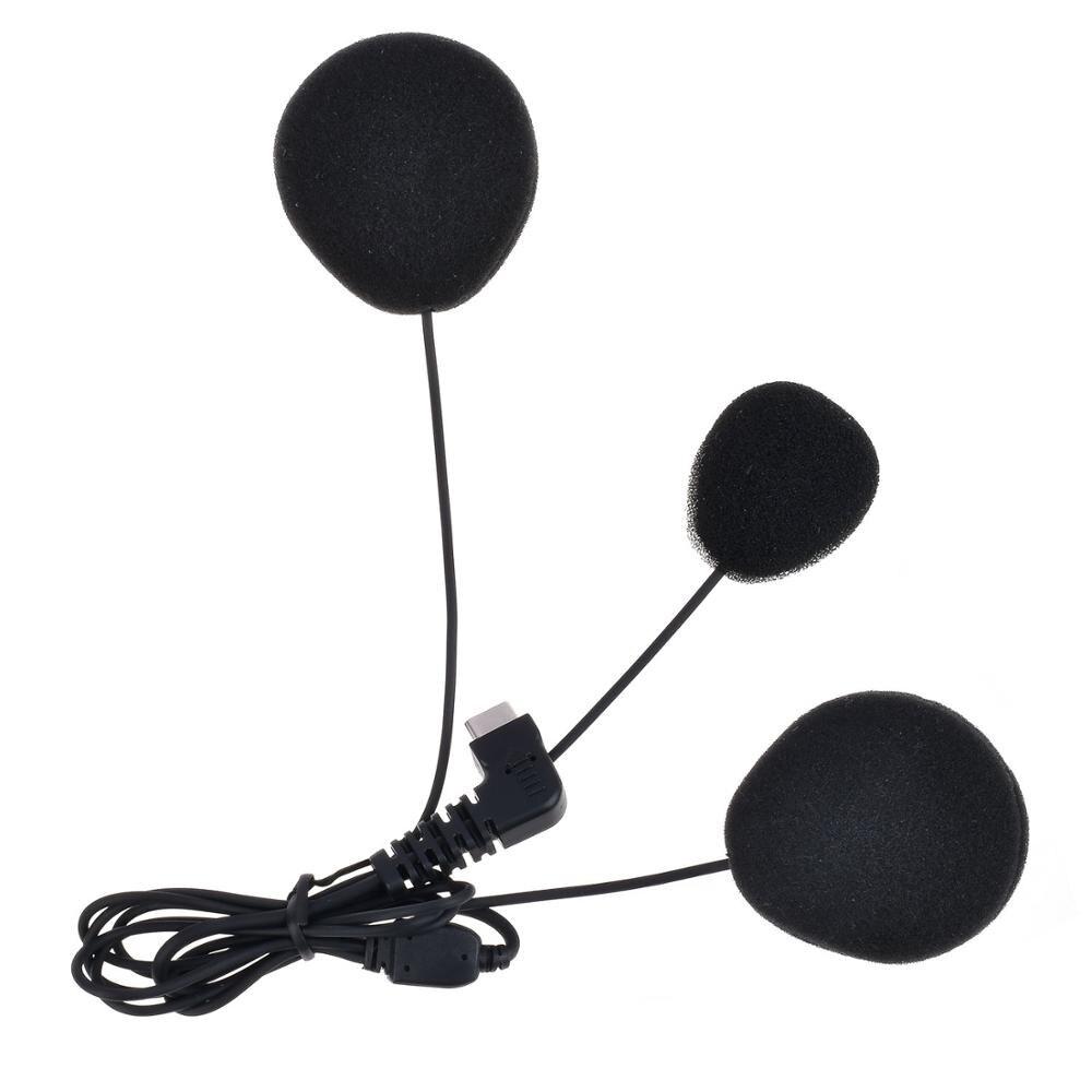Fodsports Weichen Schlauch Mikrofon Kopfhörer Kopfhörer für BT-S2 BT-S3 Motorrad Bluetooth Helm Headset Intercom Sprech