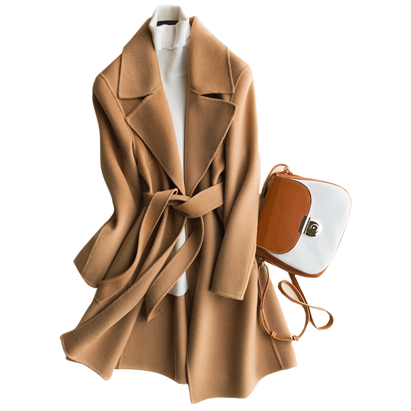 €63.0 25% OFF|Klassische mantel doppel konfrontiert kaschmir mantel woolen Original Design Frauen Herbst Winter Elegante Casual Warme 100% Wolle Mantel-in Wolle & Mischungen aus Damenbekleidung bei AliExpress