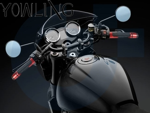 """Image 3 - 7/8"""" 22MM Motorcycle handlebar handles grips ends For SYM CRUISYM 150 180 300 GTS300 GTS 300i 2016 2017 2018 Moto handle grips"""