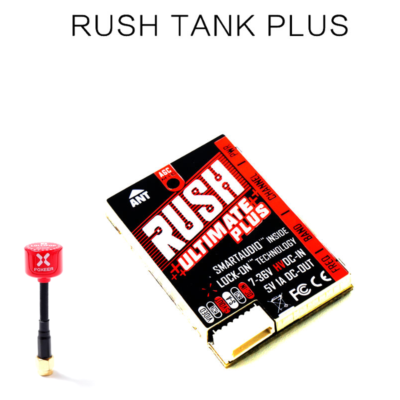 Upgraded RUSH Tank Plus Ultimate VTX 5.8G 800mW 2-8S Smart Audio Video Transmitter MIC Foxeer Lollipop 3 For RC Drone FPV Racing