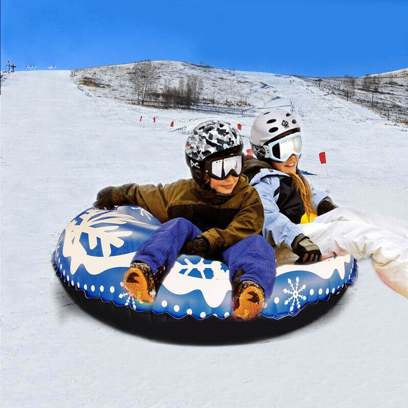 Snow Tube For Winter Fun Inflatable 47 Inch Heavy Duty Snow Sleds Skiing Supplies THJ99