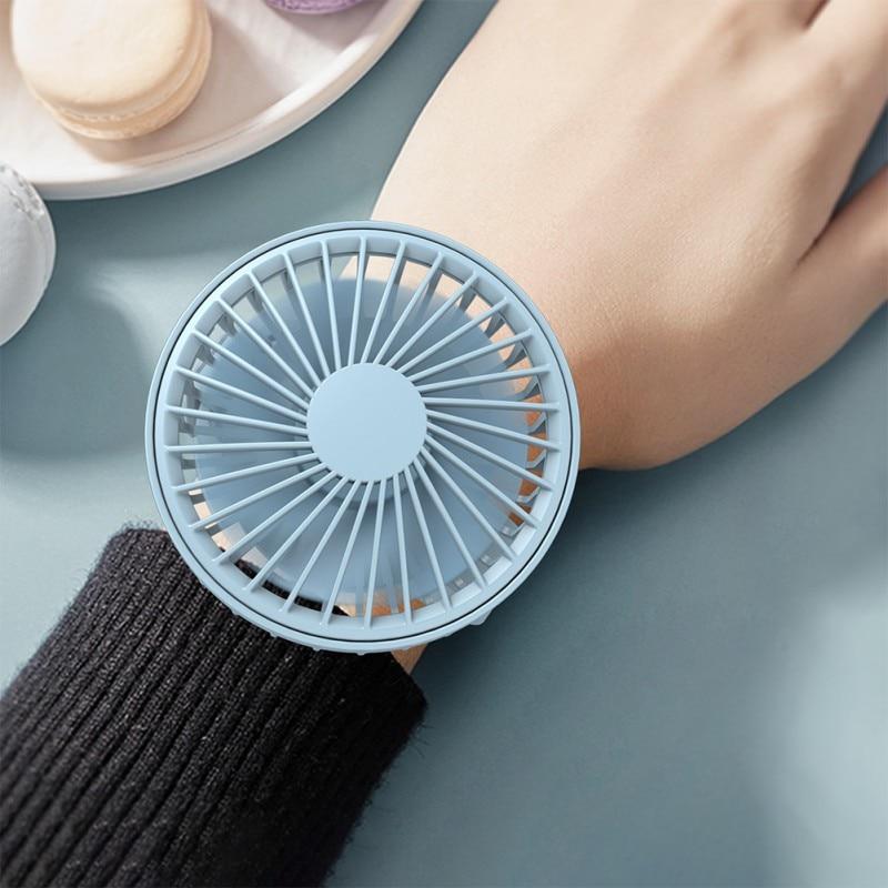 Mini Portable Watch Fan Air Cooler Child Hand Held Outdoor Cooler Cooling Mini Fans USB Power Ventilador Portatil Home Mini Fan