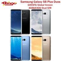Samsung-teléfono inteligente Galaxy S8 Plus, G955FD, versión Global, 4G, Android, Dual SIM, Exynos, Octa Core, 6,2 pulgadas de RAM, 4GB de ROM, 64GB, NFC
