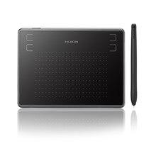 Huion h430p comprimidos digitais assinatura gráficos desenho caneta tablet jogo osu tablet com caneta sem bateria