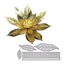 DishyKooker 3D Flower Shape DIY Etching Carbon Steel Cutting Dies for Scrapbook Decor dishykooker diy ribbon shape pattern carbon steel cutting dies for scrapbook decor
