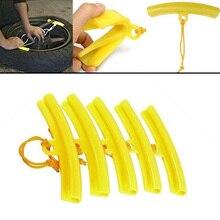 New 5PCS/set Tyre Wheel Changing Edge Savers Tool Yellow Car Tire Changer Guard Rim Protector