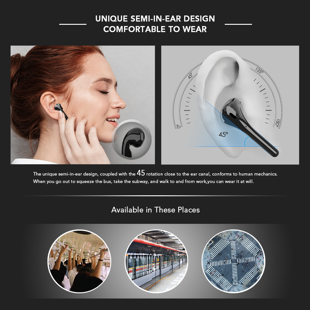 lowest price Mixcder X1 TWS Bluetooth Wireless Earphones with 4 Microphone BT5 1 Noise Cancellation Earbuds Sports Earphone 24Hrs Playtime