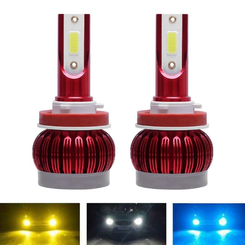 12000LM Car Headlight Bulb H7 LED H4 LED H11 LED Headlight Fog Light 6000K 8000k Light Ice Blue/Yellow Light Car Styling