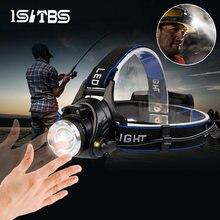 Светодиодный индукционный налобный фонарь Сенсор головной светильник