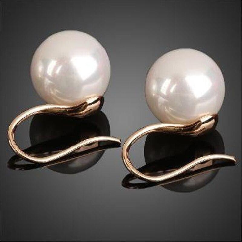 Simple Vintage Pearl Earring For Women Girls Fashion Crystal Eardrop Ear Jewelry Accessories Mujer White Hook Stud Earrings